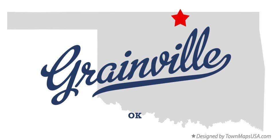Map of Grainville Oklahoma OK