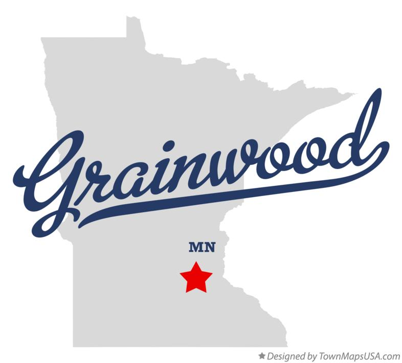 Map of Grainwood Minnesota MN