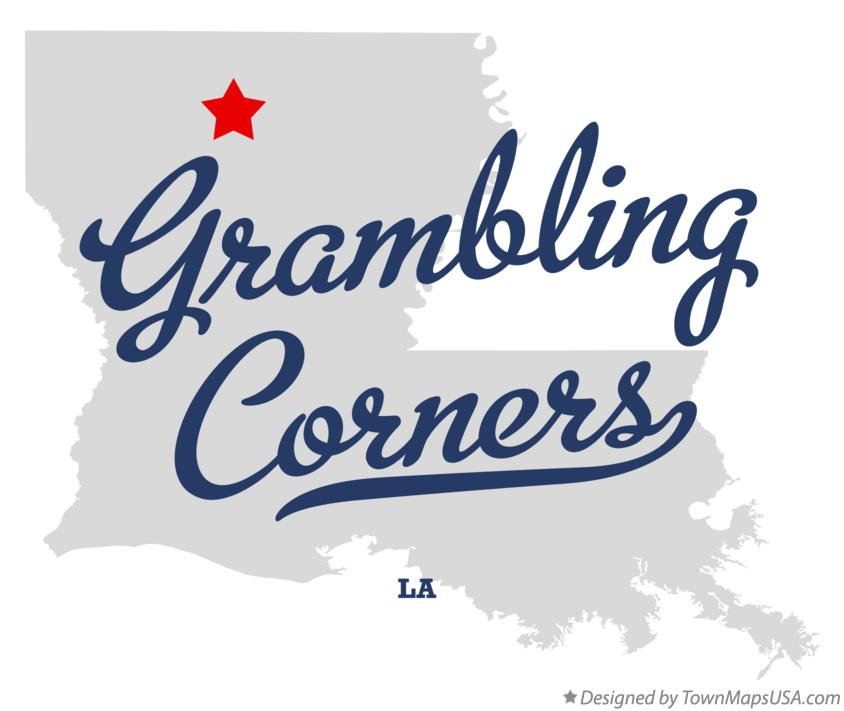 Map of Grambling Corners Louisiana LA