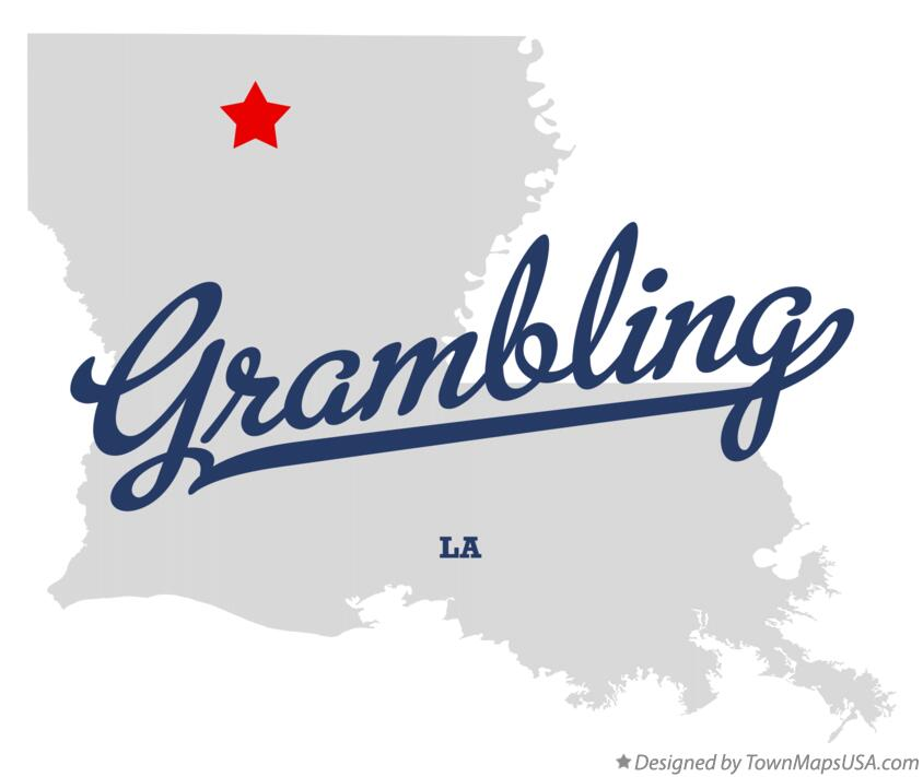 Map of Grambling Louisiana LA