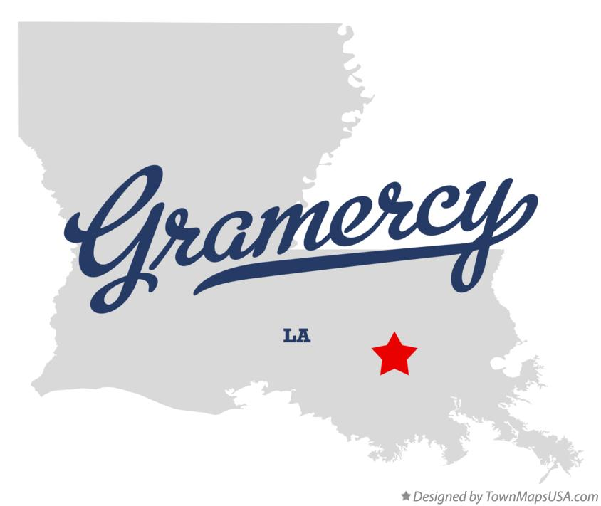 Map of Gramercy Louisiana LA