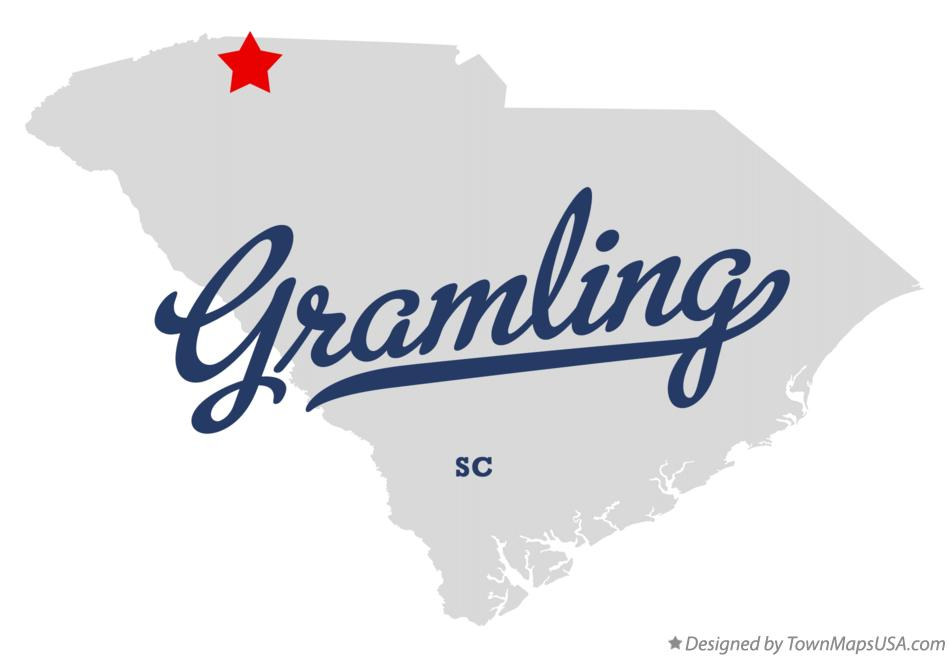 Map of Gramling South Carolina SC