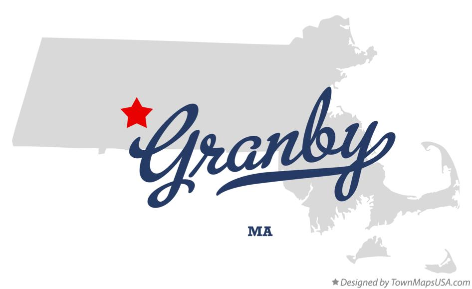 Map of Granby Massachusetts MA