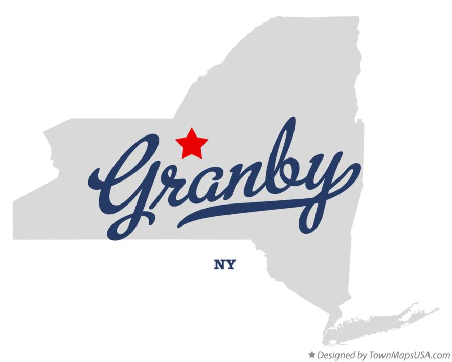 Map of Granby New York NY