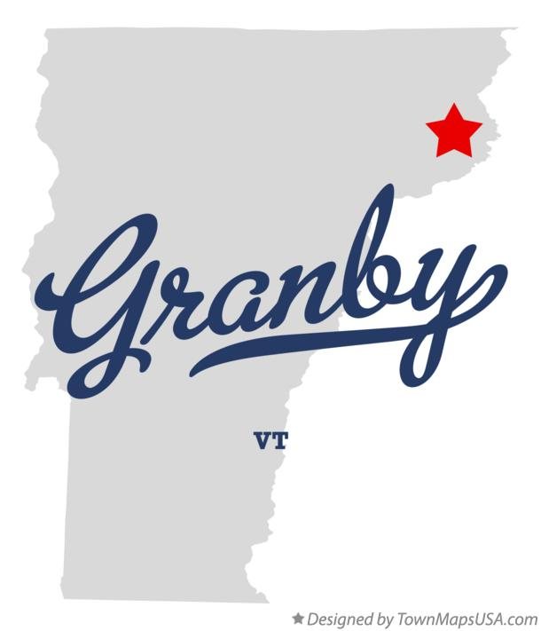 Map of Granby Vermont VT