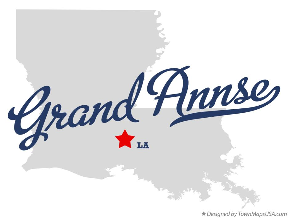 Map of Grand Annse Louisiana LA