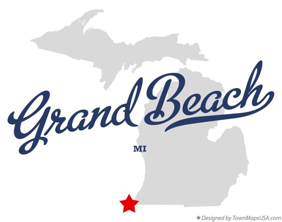 Map of Grand Beach Michigan MI