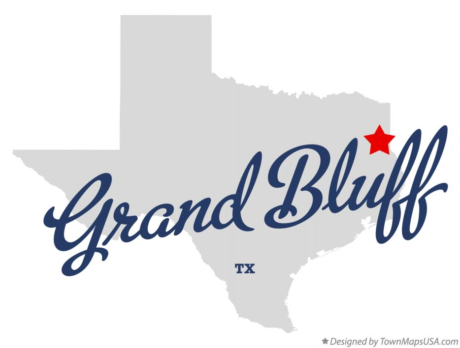 Map of Grand Bluff Texas TX