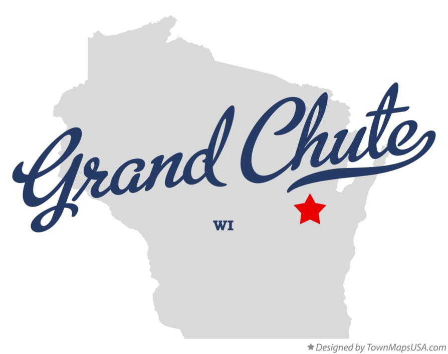 Map of Grand Chute Wisconsin WI