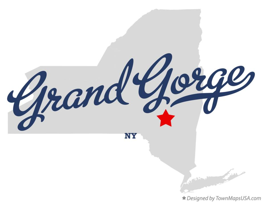 Map of Grand Gorge New York NY