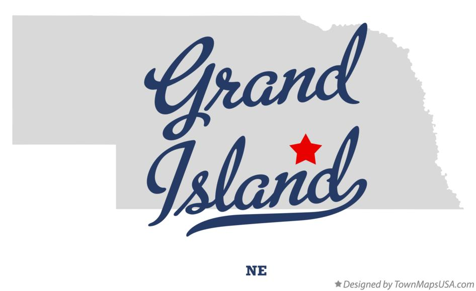 Map of Grand Island Nebraska NE