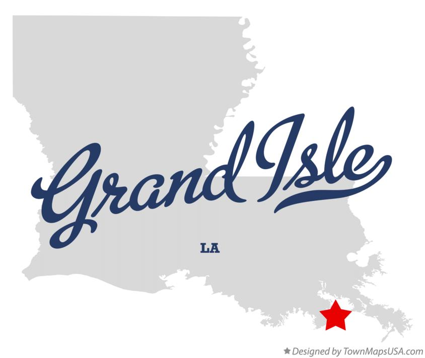 Map of Grand Isle Louisiana LA
