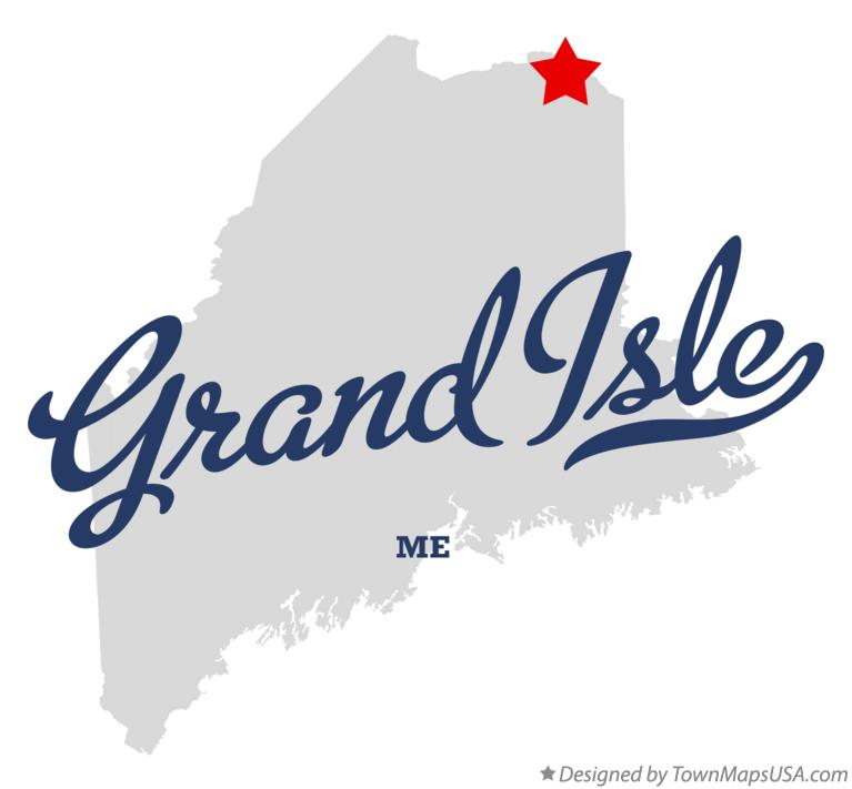 Map of Grand Isle Maine ME