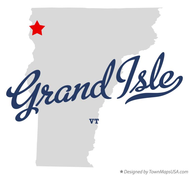 Map of Grand Isle Vermont VT