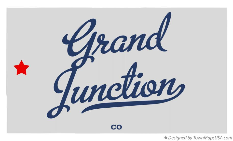 Map of Grand Junction Colorado CO