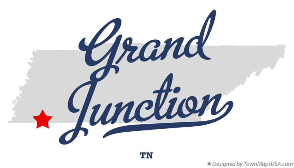 Map of Grand Junction Tennessee TN