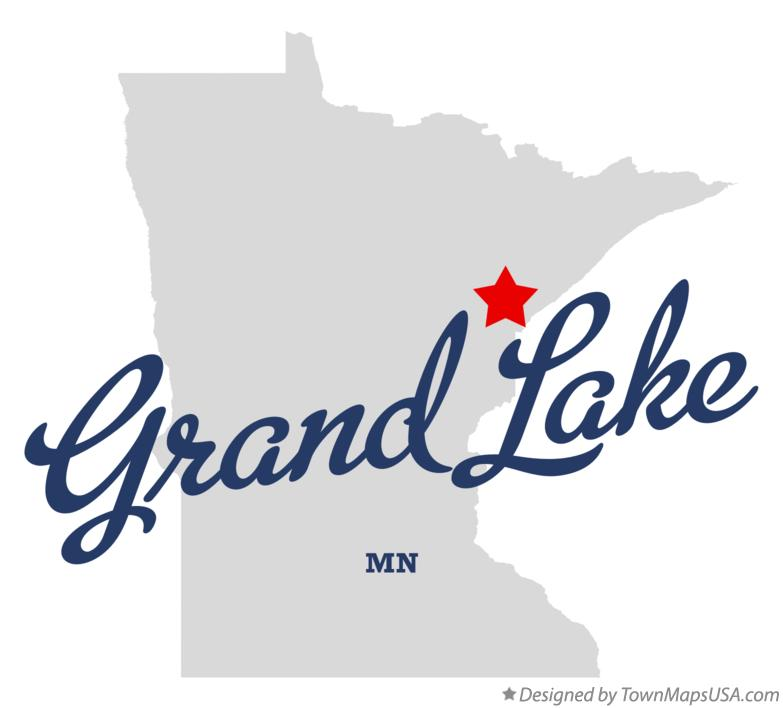 Map of Grand Lake Minnesota MN