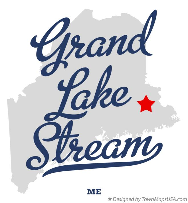 Map of Grand Lake Stream Maine ME
