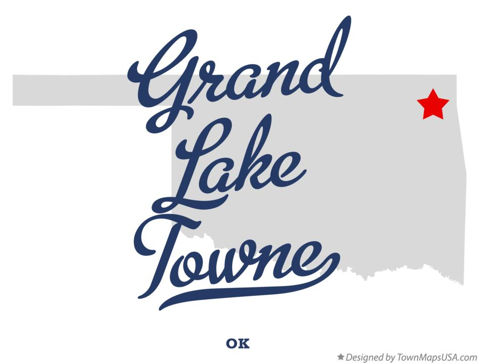 Map of Grand Lake Towne Oklahoma OK