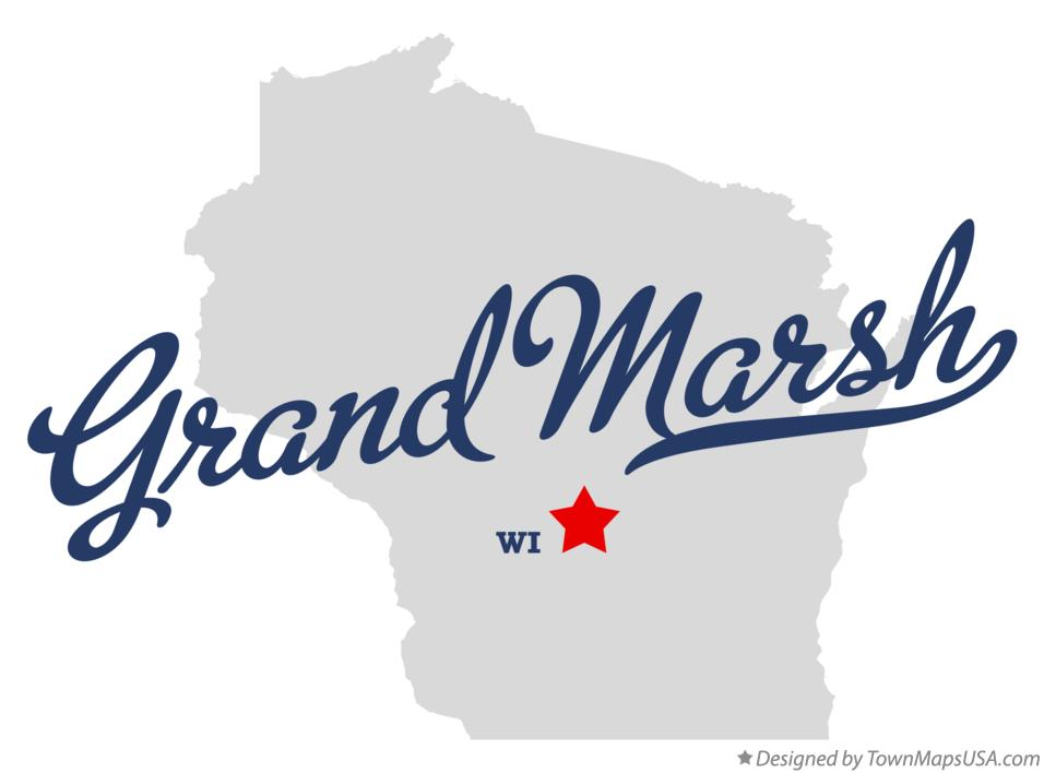 Map of Grand Marsh Wisconsin WI