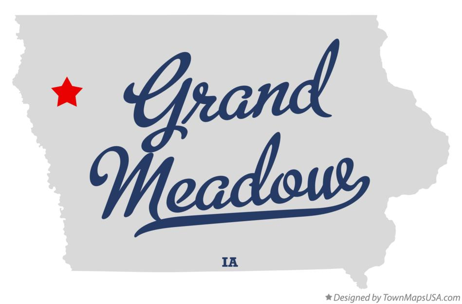 Map of Grand Meadow Iowa IA