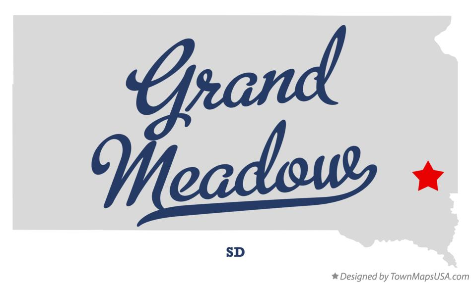 Map of Grand Meadow South Dakota SD