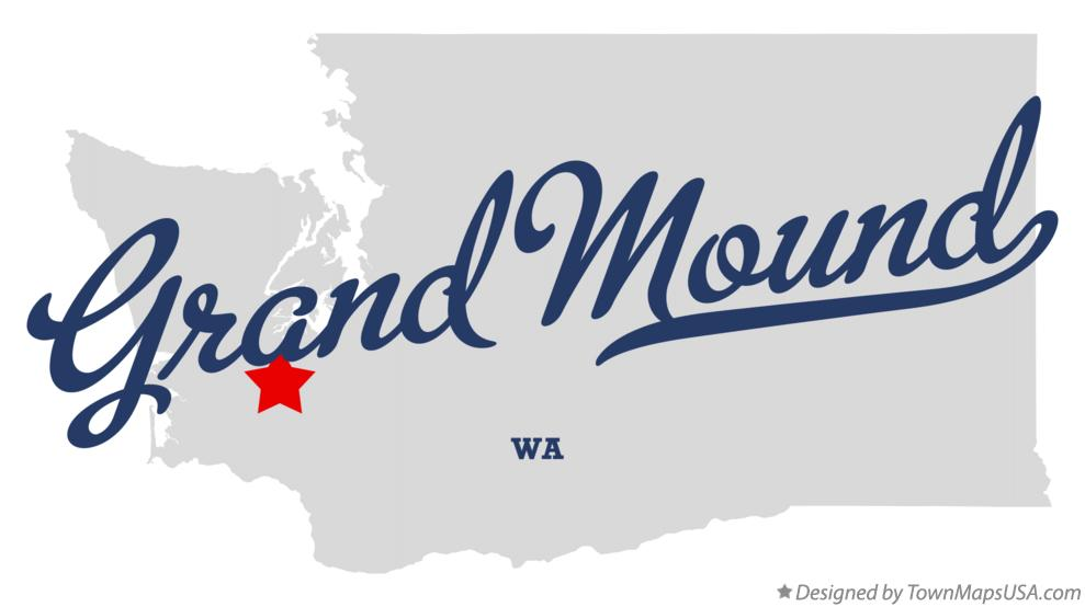 Map of Grand Mound Washington WA