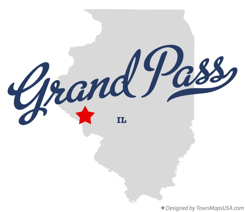 Map of Grand Pass Illinois IL
