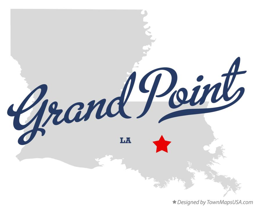 Map of Grand Point Louisiana LA