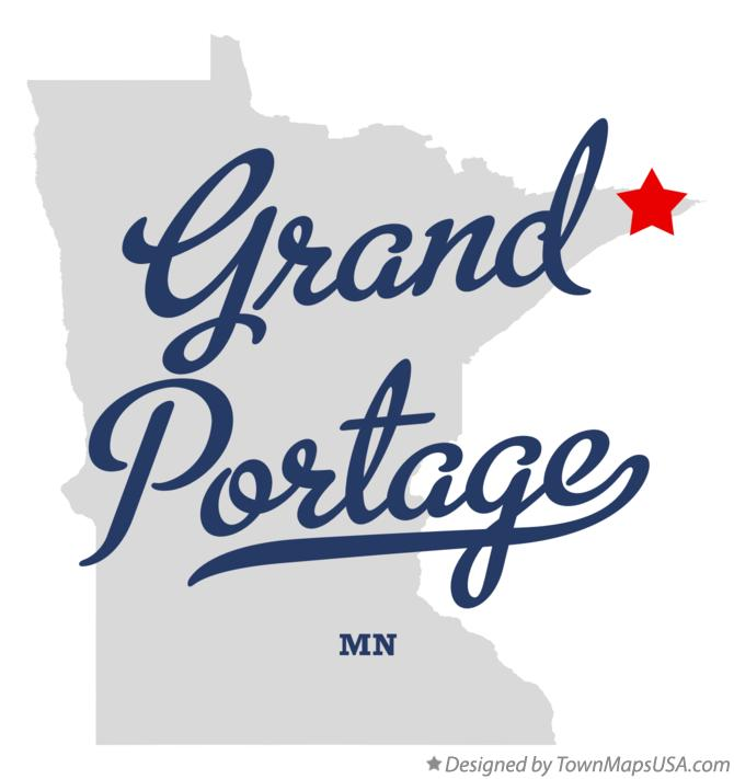 Map of Grand Portage Minnesota MN