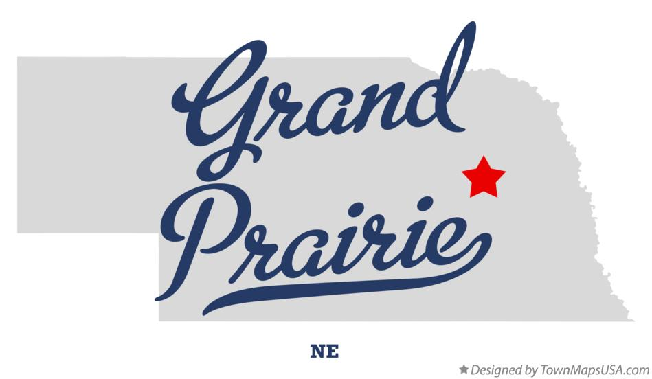 Map of Grand Prairie Nebraska NE