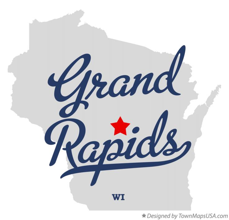 Map of Grand Rapids Wisconsin WI