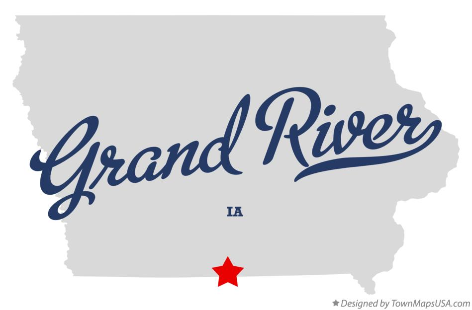 Map of Grand River Iowa IA