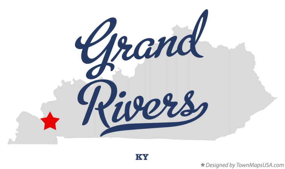 Map of Grand Rivers Kentucky KY
