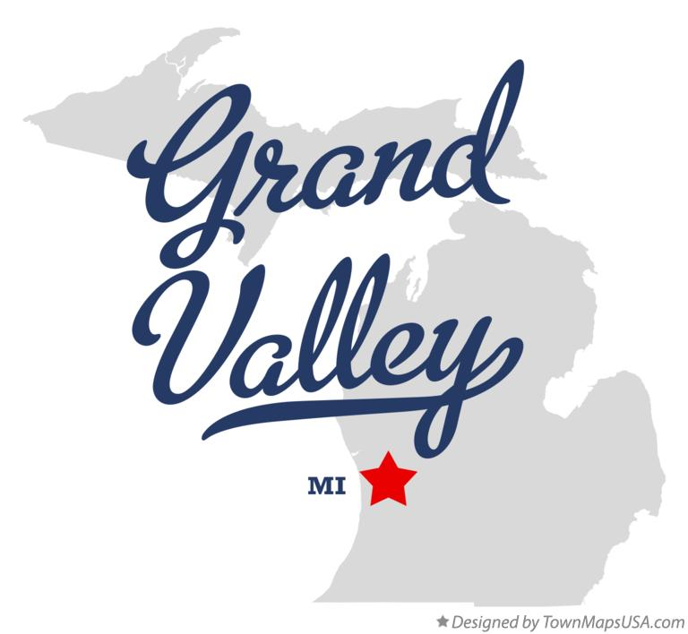 Map of Grand Valley Michigan MI