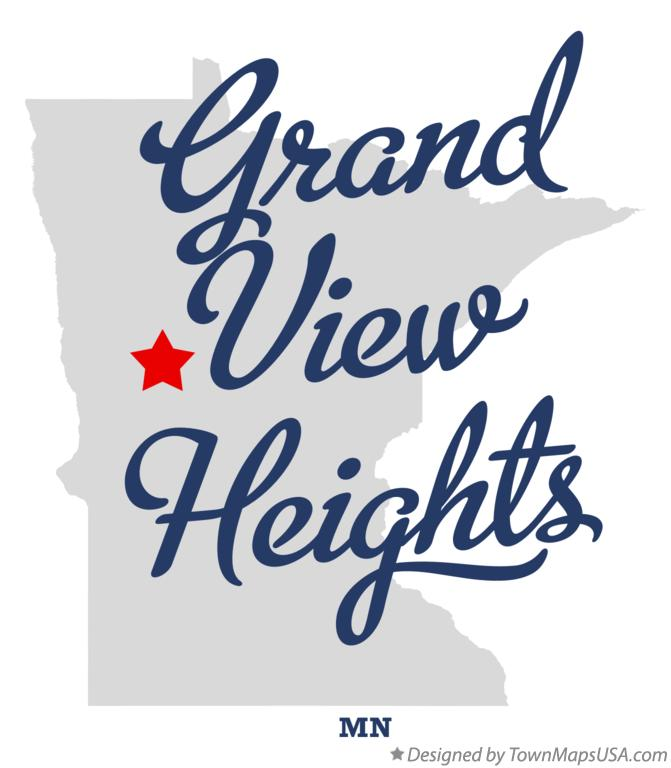 Map of Grand View Heights Minnesota MN