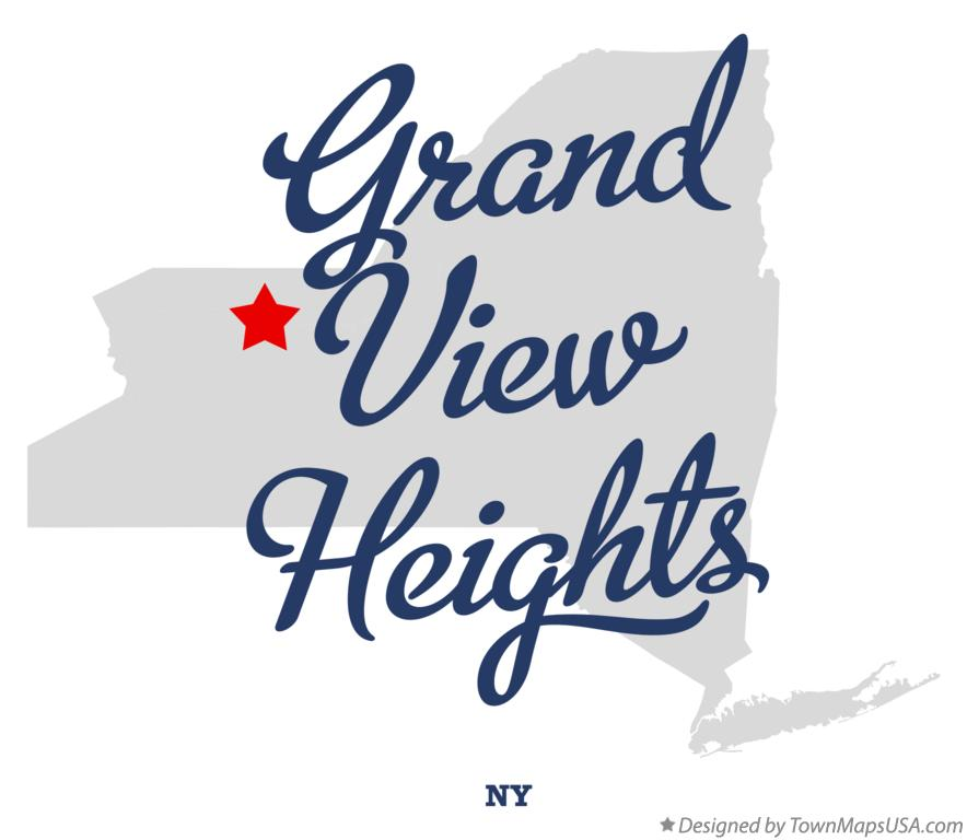 Map of Grand View Heights New York NY