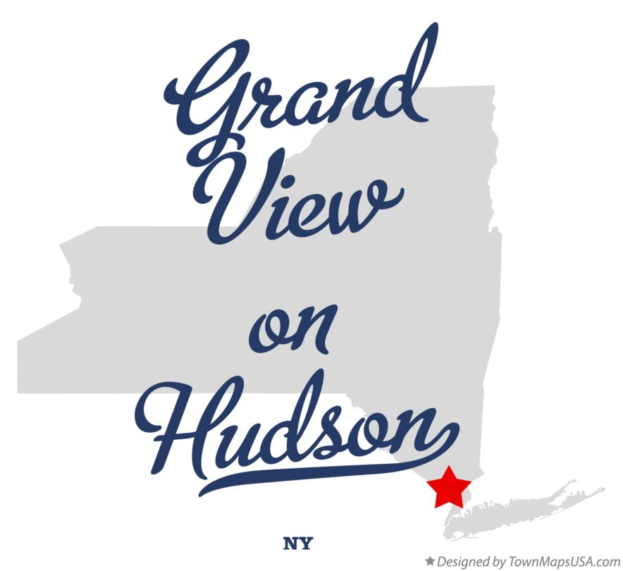 Map of Grand View-on-Hudson New York NY