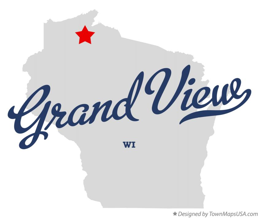 Map of Grand View Wisconsin WI