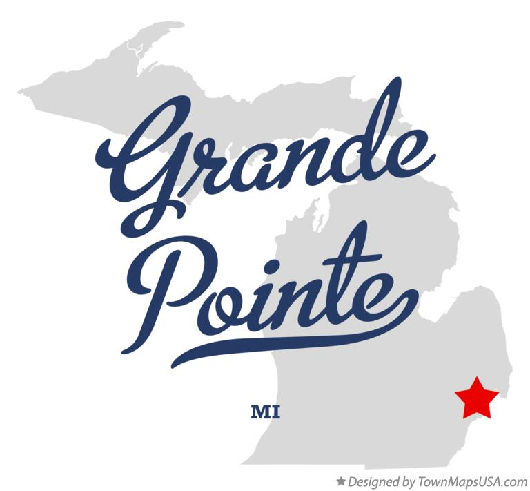 Map of Grande Pointe Michigan MI
