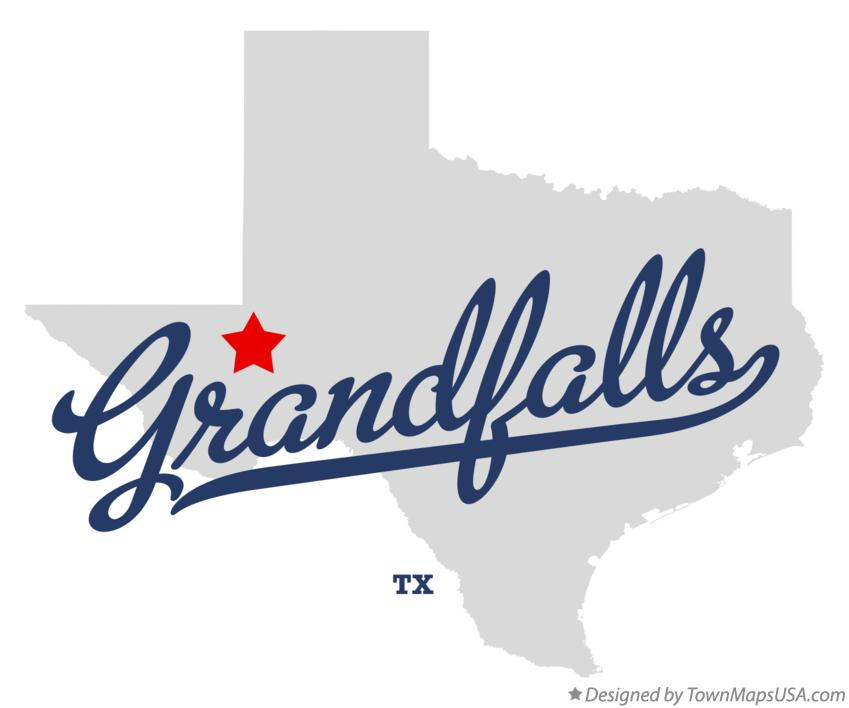 Map of Grandfalls Texas TX