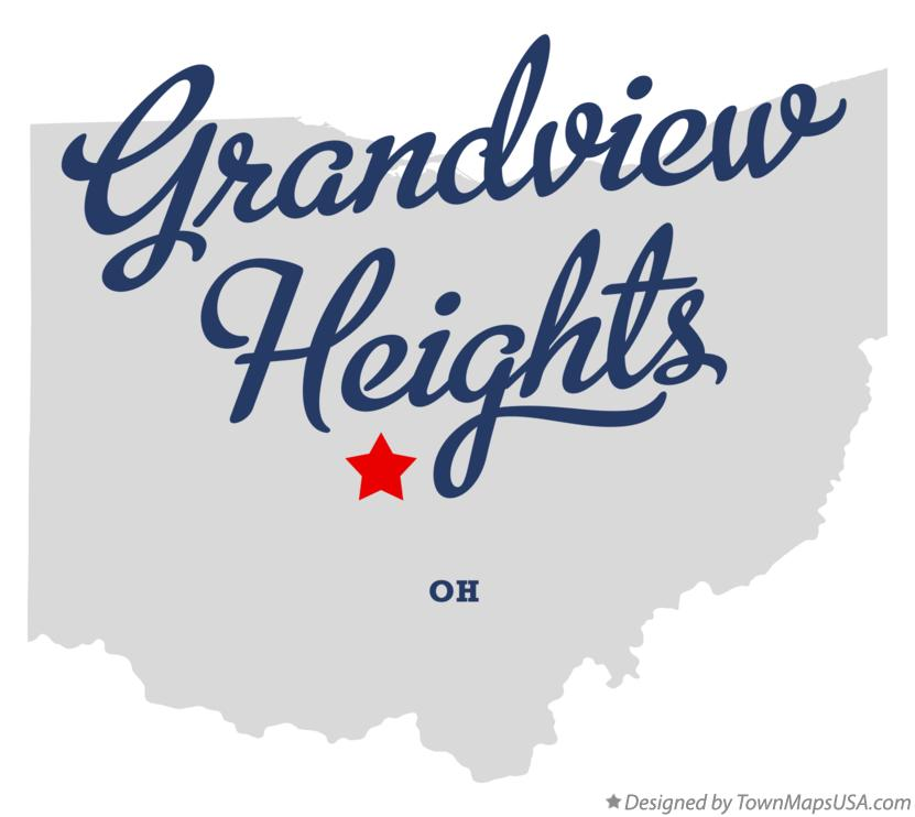 Map of Grandview Heights Ohio OH