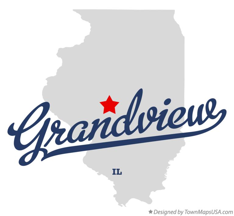 Map of Grandview Illinois IL
