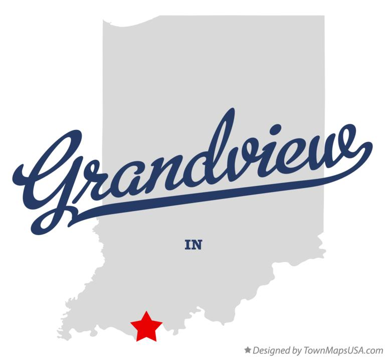 Map of Grandview Indiana IN