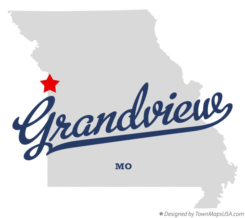 Map of Grandview Missouri MO