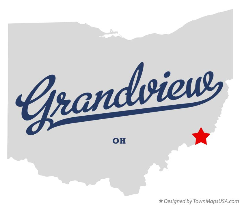 Map of Grandview Ohio OH