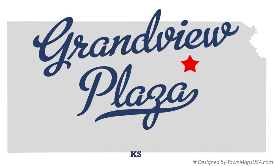 Map of Grandview Plaza Kansas KS