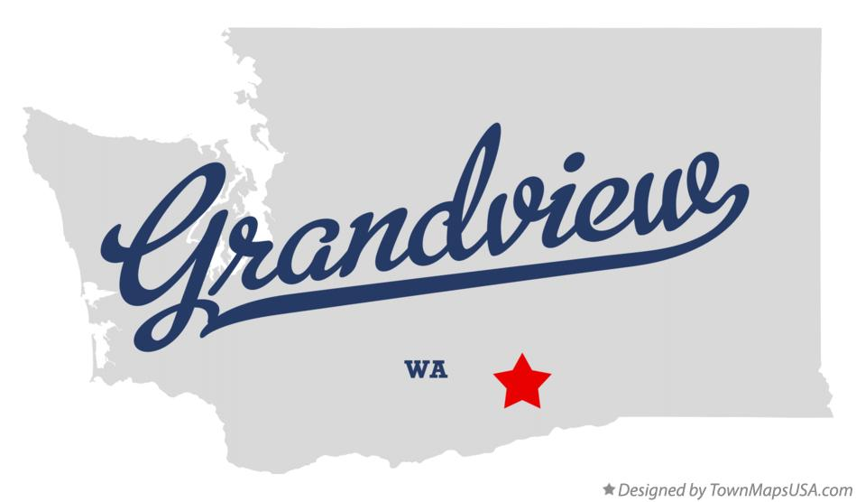 Map of Grandview Washington WA