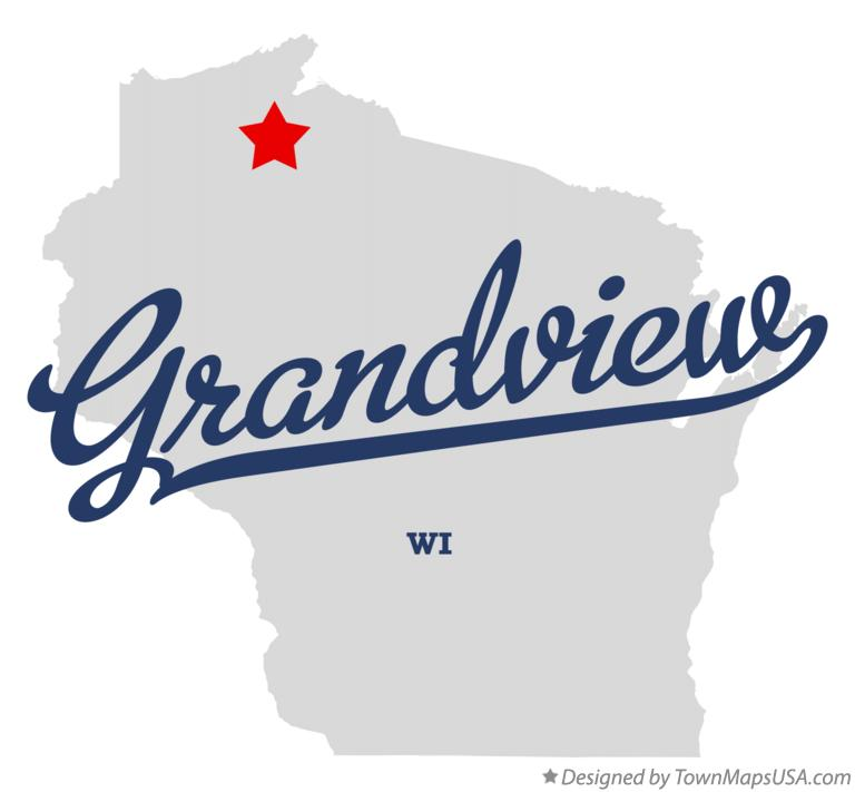 Map of Grandview Wisconsin WI