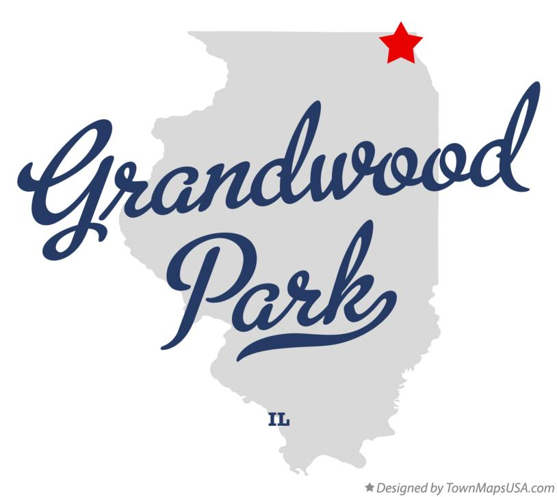 Map of Grandwood Park Illinois IL